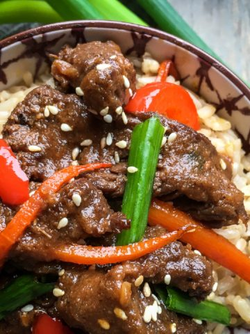 Instant Pot Mongolian Beef; Chinese Take out Fake Out