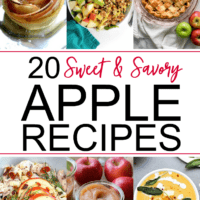 A collection of 20 sweet apple and savory apple recipes to make this fall