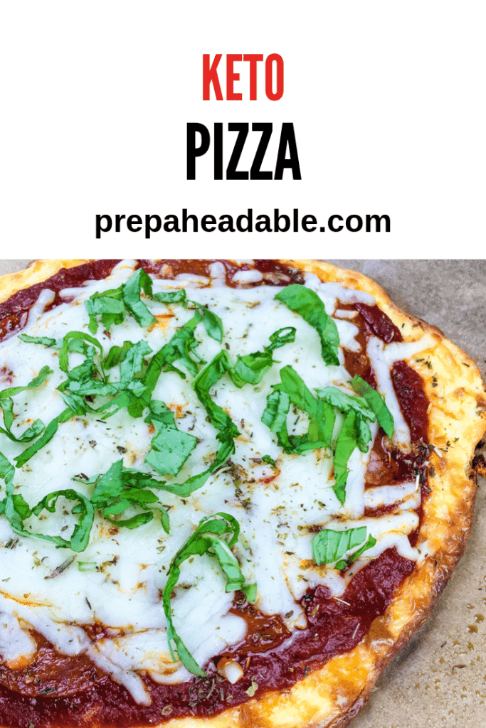No Dough Pizza made from cream cheese and eggs. Add your favourite toppings for a keto pizza you will love